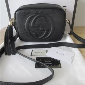 Gucci Soho Disco Crossbody Bag Black